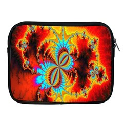 Crazy Mandelbrot Fractal Red Yellow Turquoise Apple Ipad 2/3/4 Zipper Cases by EDDArt
