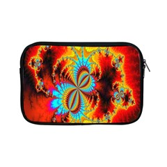 Crazy Mandelbrot Fractal Red Yellow Turquoise Apple Ipad Mini Zipper Cases by EDDArt