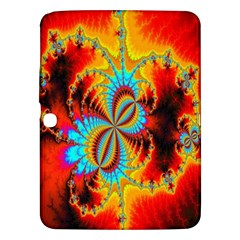 Crazy Mandelbrot Fractal Red Yellow Turquoise Samsung Galaxy Tab 3 (10 1 ) P5200 Hardshell Case  by EDDArt