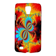 Crazy Mandelbrot Fractal Red Yellow Turquoise Galaxy S4 Active by EDDArt