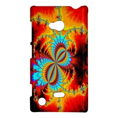 Crazy Mandelbrot Fractal Red Yellow Turquoise Nokia Lumia 720 by EDDArt