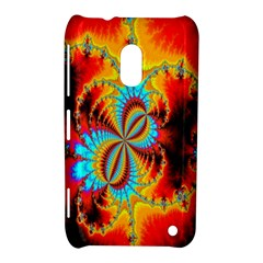 Crazy Mandelbrot Fractal Red Yellow Turquoise Nokia Lumia 620 by EDDArt