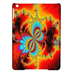 Crazy Mandelbrot Fractal Red Yellow Turquoise Ipad Air Hardshell Cases by EDDArt