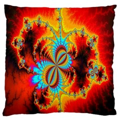 Crazy Mandelbrot Fractal Red Yellow Turquoise Standard Flano Cushion Case (two Sides) by EDDArt