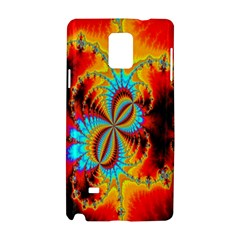 Crazy Mandelbrot Fractal Red Yellow Turquoise Samsung Galaxy Note 4 Hardshell Case by EDDArt
