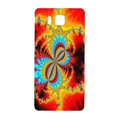 Crazy Mandelbrot Fractal Red Yellow Turquoise Samsung Galaxy Alpha Hardshell Back Case by EDDArt