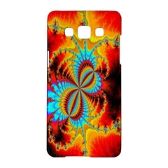 Crazy Mandelbrot Fractal Red Yellow Turquoise Samsung Galaxy A5 Hardshell Case  by EDDArt