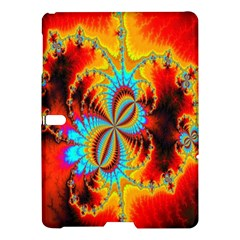 Crazy Mandelbrot Fractal Red Yellow Turquoise Samsung Galaxy Tab S (10 5 ) Hardshell Case  by EDDArt