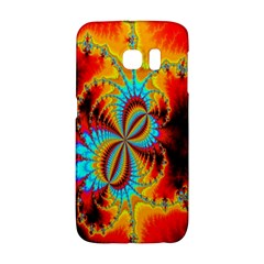 Crazy Mandelbrot Fractal Red Yellow Turquoise Galaxy S6 Edge by EDDArt
