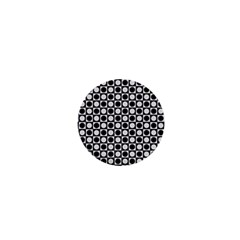 Modern Dots In Squares Mosaic Black White 1  Mini Buttons by EDDArt