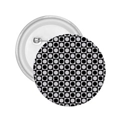 Modern Dots In Squares Mosaic Black White 2 25  Buttons by EDDArt