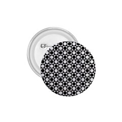 Modern Dots In Squares Mosaic Black White 1 75  Buttons by EDDArt