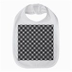 Modern Dots In Squares Mosaic Black White Bib