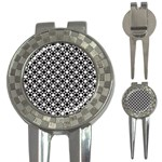 Modern Dots In Squares Mosaic Black White 3-in-1 Golf Divots