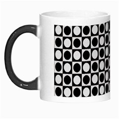 Modern Dots In Squares Mosaic Black White Morph Mugs by EDDArt