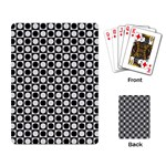 Modern Dots In Squares Mosaic Black White Playing Card