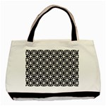 Modern Dots In Squares Mosaic Black White Basic Tote Bag