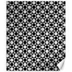Modern Dots In Squares Mosaic Black White Canvas 20  x 24