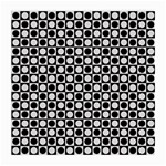Modern Dots In Squares Mosaic Black White Medium Glasses Cloth
