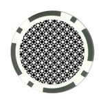 Modern Dots In Squares Mosaic Black White Poker Chip Card Guards