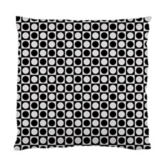 Modern Dots In Squares Mosaic Black White Standard Cushion Case (one Side) by EDDArt