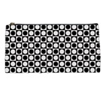Modern Dots In Squares Mosaic Black White Pencil Cases