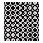Modern Dots In Squares Mosaic Black White Shower Curtain 66  x 72  (Large)