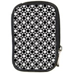 Modern Dots In Squares Mosaic Black White Compact Camera Cases