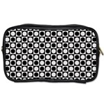 Modern Dots In Squares Mosaic Black White Toiletries Bags 2-Side