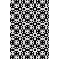 Modern Dots In Squares Mosaic Black White 5 5  X 8 5  Notebooks by EDDArt