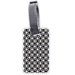 Modern Dots In Squares Mosaic Black White Luggage Tags (One Side)
