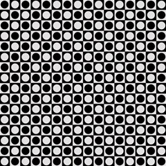 Modern Dots In Squares Mosaic Black White Magic Photo Cubes by EDDArt