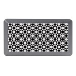 Modern Dots In Squares Mosaic Black White Memory Card Reader (Mini)