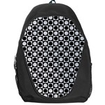 Modern Dots In Squares Mosaic Black White Backpack Bag