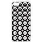 Modern Dots In Squares Mosaic Black White Apple iPhone 5 Seamless Case (White)