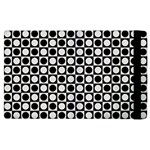 Modern Dots In Squares Mosaic Black White Apple iPad 2 Flip Case