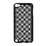 Modern Dots In Squares Mosaic Black White Apple iPod Touch 5 Case (Black)