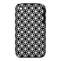 Modern Dots In Squares Mosaic Black White Apple Iphone 3g/3gs Hardshell Case (pc+silicone) by EDDArt