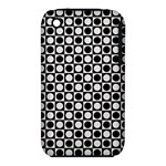 Modern Dots In Squares Mosaic Black White Apple iPhone 3G/3GS Hardshell Case (PC+Silicone)