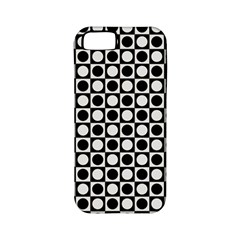 Modern Dots In Squares Mosaic Black White Apple Iphone 5 Classic Hardshell Case (pc+silicone) by EDDArt