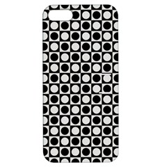 Modern Dots In Squares Mosaic Black White Apple Iphone 5 Hardshell Case With Stand by EDDArt