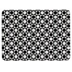 Modern Dots In Squares Mosaic Black White Samsung Galaxy Tab 7  P1000 Flip Case