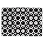 Modern Dots In Squares Mosaic Black White Samsung Galaxy Tab 10.1  P7500 Flip Case
