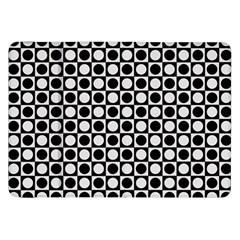 Modern Dots In Squares Mosaic Black White Samsung Galaxy Tab 8 9  P7300 Flip Case by EDDArt