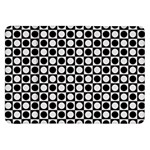 Modern Dots In Squares Mosaic Black White Samsung Galaxy Tab 8.9  P7300 Flip Case