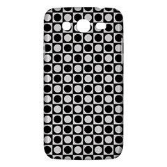 Modern Dots In Squares Mosaic Black White Samsung Galaxy Mega 5 8 I9152 Hardshell Case  by EDDArt