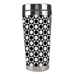 Modern Dots In Squares Mosaic Black White Stainless Steel Travel Tumblers