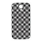 Modern Dots In Squares Mosaic Black White Samsung Galaxy S4 I9500/I9505  Hardshell Back Case