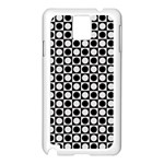 Modern Dots In Squares Mosaic Black White Samsung Galaxy Note 3 N9005 Case (White)
