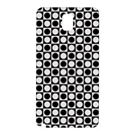 Modern Dots In Squares Mosaic Black White Samsung Galaxy Note 3 N9005 Hardshell Back Case